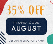 Save with promo code AUGUST